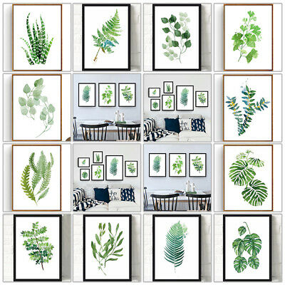 Green Plants Canvas Art Print Poster Leaf Painting Wall Pictures Decor 24 Types