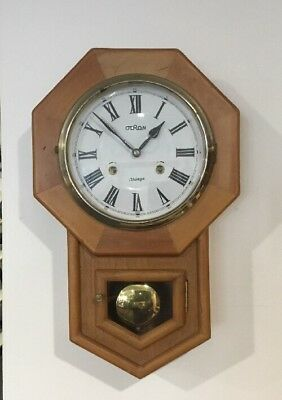 Vintage Wall Clock For Parts Or Repair