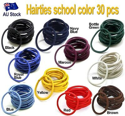 30 pieces Snagless Hair Tie / Hair Band / Hair Elastic / Ponytailer School color