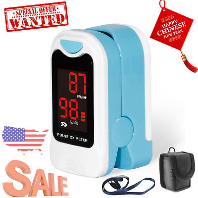 Finger Tip Pulse Oximeter SpO2 Heart Rate monitor blood oxygen Meter Sensor LED