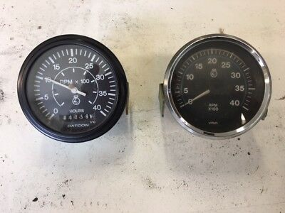 Tachometer 2 Datcon and VDO - 0-4000 RPM from Diesel Chippers