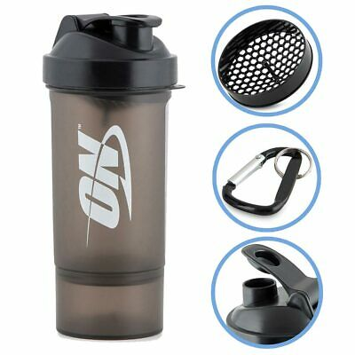 Optimum Nutrition 2 Two Part Shaker 600ml Protein Shake Bottle Cup Container