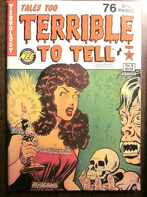 TALES TOO TERRIBLE TO TELL #8 (NEW ENGLAND COMICS, May/Jun 1993) Near Mint, 9.4