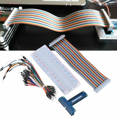 For Raspberry Pi Breakout Shield DIY GPIO Expansion Board w/ 65x Jumper Cable CO