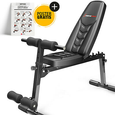 Sportstech BRT500 Adjustable Exercise Weight Bench 8in1 Foldable Up To 185 KG