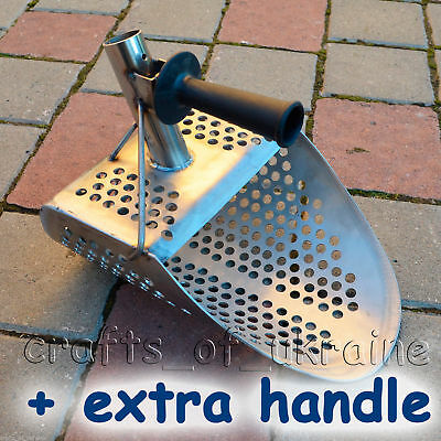 Top-Quality Beach Sand Scoop Metal Detecting 2mm Stainless Steel + Short Handle