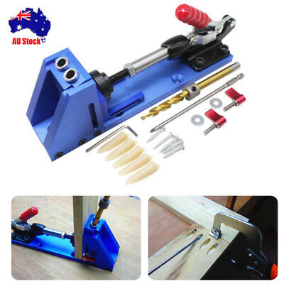 AU! Jig Hole Oblique Drill Guide Wood Joiner Carpenter Woodworking Locator Tool