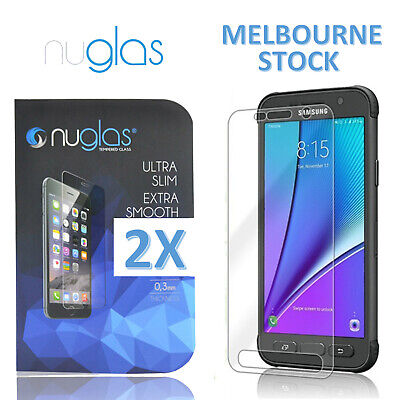 2 x Nuglas Tempered Glass Screen Protector For Samsung S7 S6 S5 Active S7 S6 S5