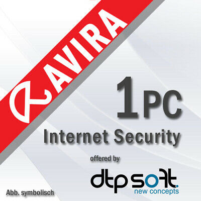 Avira Internet Security Suite 2020 1 PC VOLLVERSION 1 GERÄT 3 JAHRE 2019 DE EU