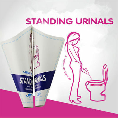 10Pcs/lot Women Female Portable Disposable Urinal Standing Pee Urination Device