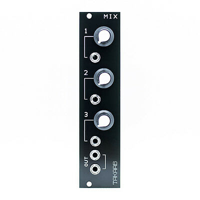 TAKAAB MIX - 3 Channel Mixer Eurorack Synthesizer Module (6HP)