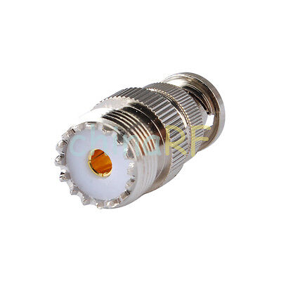 SO239 UHF Female To BNC Male plug RF Adaptor for Radio Scanner and Transceiver