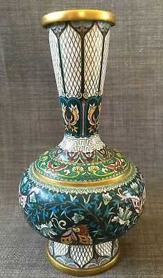 Antique Chinese Cloisonne Baluster Vase Mao Zedong Period 1949-66 Early PROC