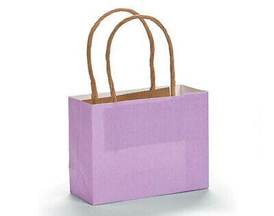 12 Small Lilac Kraft Bags for Gifts or Crafts - 115mm Tall