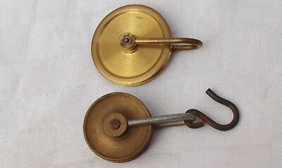 2 Brass Or Bronze Grandfather Longcase Clock Pulleys