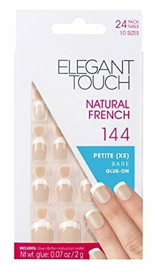 Elegant Touch Natural French Ongles 144 Petite Chaire Taille XS