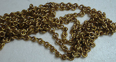 4 feet Marine SOLID BRASS CHAIN - 6 GAGE - Heavy Duty  (A)
