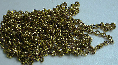 4 feet Marine SOLID BRASS CHAIN - 8 GAGE - Heavy Duty  (A)
