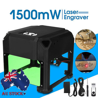 Mini Laser Engraver DIY Mark Printer Cutter Carver Engraving Machine 1500mW USB