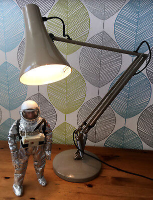 Vintage Industrial Herbert Terry 90 Anglepoise Lamp Machinist Factory Light 70s