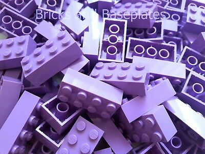 LEGO BRICKS 25 x LAVENDER 2x4 Pin - From New Sets Sent in a Clear Sealed Bag