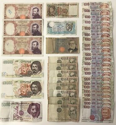 39 Mixed Lire Banknote Collection - Italy - Europe ***BULK LOT*** (1830)