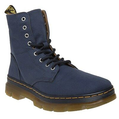 New Mens Dr. Martens Blue Combs Canvas Boots Chukka Lace Up