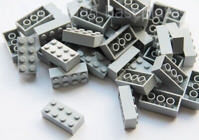 LEGO BRICKS 25 x LIGHT GREY 2x4 Pin - From New Sets Sent in a Clear Sealed Bag