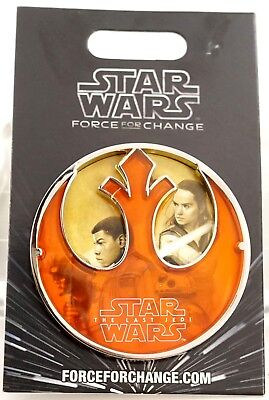 NEW Disney Parks Star Wars The last Jedi Force for Change Pin