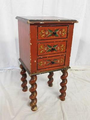 A Cute Sized Antique North European Painted Chest With Drawers