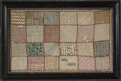 Small Antique Darning Sampler, 1810 by HL