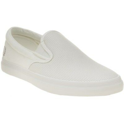 47e7084f3a NEW MENS LACOSTE White Alliot Slip-On Leather Trainers Court Lace Up ...
