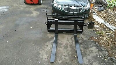 48' Pallet Forks With Guard For A John Deere 240 Skip Loader 3750 Lb. Rated