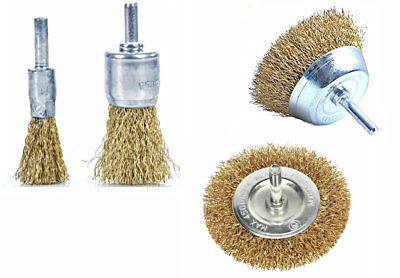 4Pc Wire Cup/Wheel Brushes For Rotary Power Drill Steel Brass Copper Wire Brush