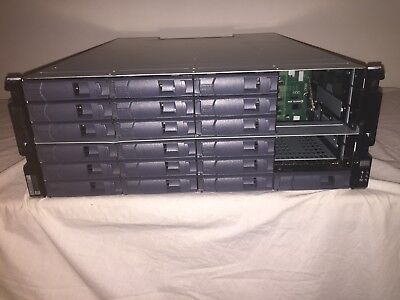 NETAPP DS4243 NAJ-0801 24 Bay SAS/SATA SHELF 430-00025+B0 w/2x IOM3 +1x PSU