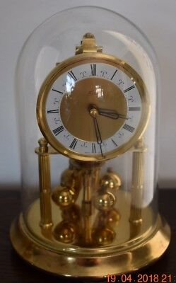 KERN 400 DAY ANNIVERSARY CLOCK WITH GLASS DOME -good working Order