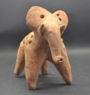 Ancient Indus Valley Clay Harappan Culture Elephant Figurine