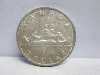 1959 Canadian Silver One Dollar Coin