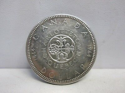 1964 Charlottetown Canadian Silver One Dollar Coin