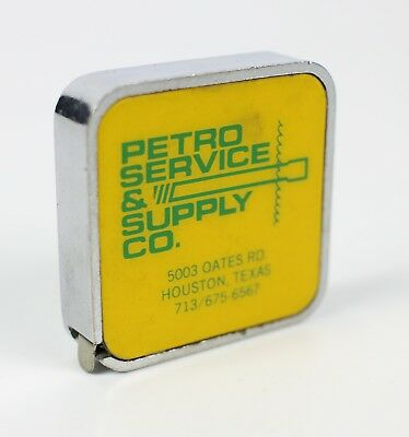 Vintage Petro Service & Supply Company Gas Advertising Measuring Mini Tape