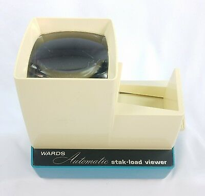 Vintage Wards Automatic Stak-Load Lighted Slide Viewer w/ AC transformer