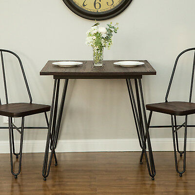 Glitzhome 30''H Farmhouse Retro Wood Metal Dining Room Table Indoor Kitchen Home