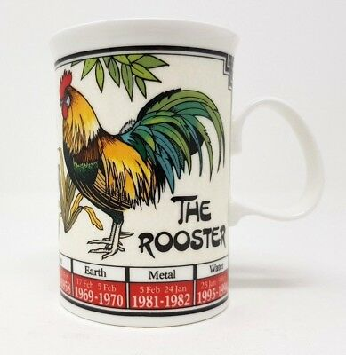 Dunoon Ming Shu - Year Of The Rooster Tea/Coffee Mug - Chinese Astrology Zodiac