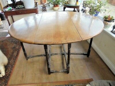Lovely Solid Oak Gate Leg Dining Table Ready To Use Collection West Wales