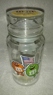 Vintage M&M's 1984 Olympic Commemorative Jar With Lid Collectible