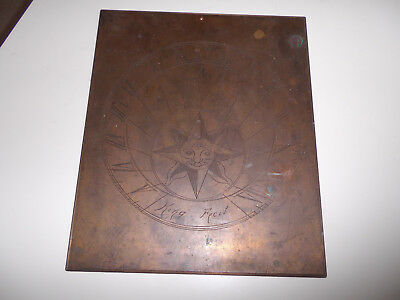 Victorian Bronze Vertical Sundial Sun Face Stamped King Ficit Barn Find