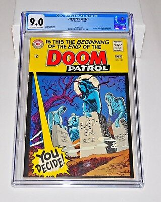 Doom Patrol 121 CGC 9.0 Off-White to White Pages 1968