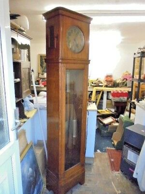 Oak Cased Art Deco Grandfather Clock Direct From House Clearance
