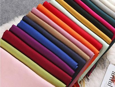 Women's pure color fashion autumn and winter high-quality wool scarf shawl