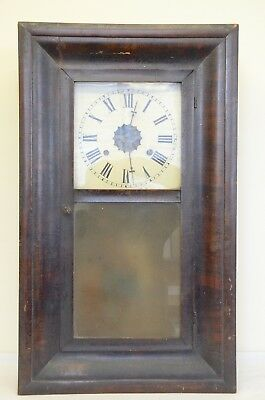 Vintage/Antique EN Welch Ogee Wall clock with mirror
